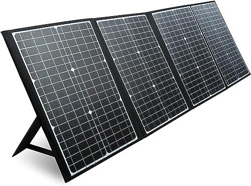 PAXCESS RV Solar Panel, 120W 18V Portable Folding Solar Panel with USB QC 3.0, Type C Output, Off-Grid Emergency Powe...
