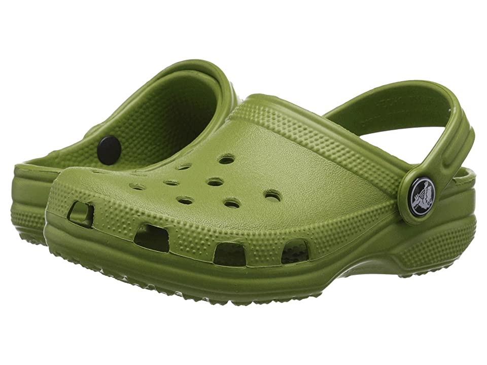 Crocs Kids Classic (Infant/Toddler/Youth) (Parrot Green) Kids Shoes