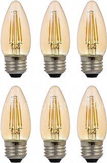 (6 Pack) Sylvania 79536-40 Watt Equivalent Vintage LED B10 Light Bulb E26