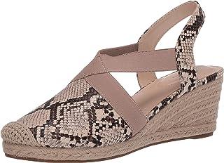 Bandolino Footwear Women's Espadrille Wedge Sandal, Brown Multi, 9 M