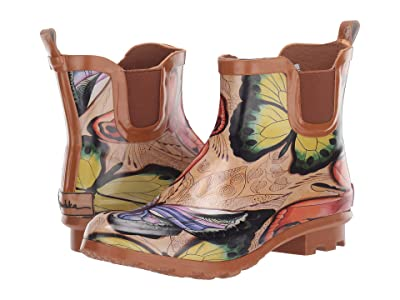 Anuschka Handbags Ankle Rain Boot (Earth Song) Women