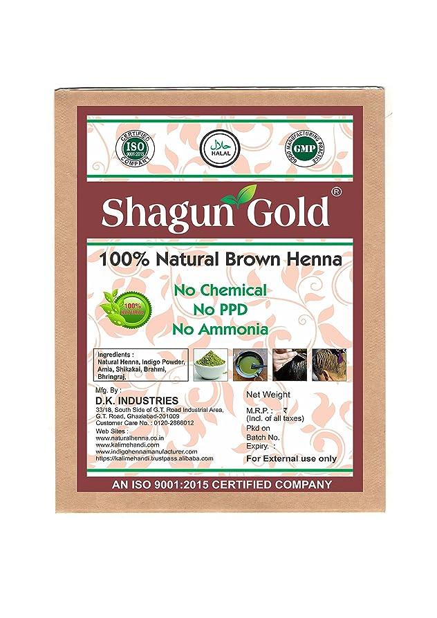 ペッカディロメディック定説Shagun Gold A 100% Natural 100% Natural Natural Black Henna For Hair Certified By Gmp / Halal / ISO-9001-2015 No Ammonia, No PPD, Chemical Free 14 Oz / ( 1 / 2 lb ) / 400g