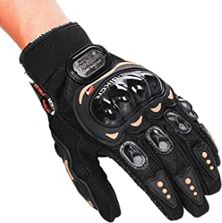 Struggling D(TM Black Motocross Racing Biker Motorcycle Motorbike Cycling Full Finger Gloves (M(for Womens))