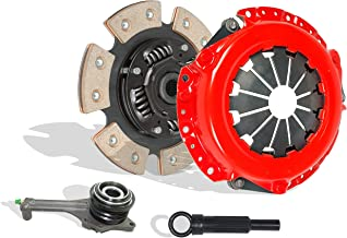 Clutch With Slave Kit Works With Mitsubishi Lancer Oz Rally Ls Es 2.0L l4 GAS SOHC Naturally Aspirated 2.0L l4 GAS DOHC Turbocharged (5 Speed Trans; 6-Puck Disc Stage 2)