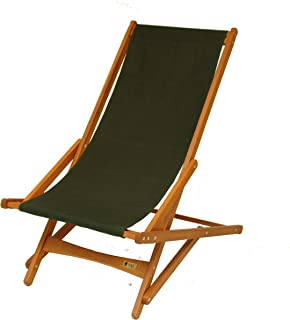 BYER OF MAINE, Pangean Glider Chair, Easy to Fold and Carry, Hardwood, Sling Chair, Wood Beach Chair, Perfect for Camping, Matching Furniture in the Pangean Line, 38
