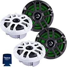 """$369 » Memphis Audio LED Marine Speaker Pack: 2 Pairs of MXA60L 6.5"""" Marine Grade, Included Black and White Grills with RGB LED"""