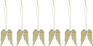 天使翅膀,6个 金色 3.5x5cm