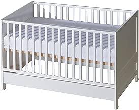 Babybett Juniorett 140x70 umbaubar Matratze Bettwäsche Set 07 Buchen Holz