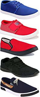 WORLD WEAR FOOTWEAR Sports Running Shoes/Casual/Sneakers/Loafers Shoes for Men Multicolor (Combo-(5)-1219-1221-1140-417-1154)