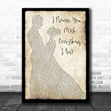 I Promise You (with Everything I Am) Man Lady Dancing Song Lyric Quote Music Poster Gift Present Art Print