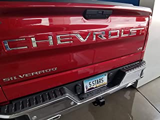 EyeCatcher Tailgate Insert Letters fits 2019-2020 Chevrolet Silverado (Chrome)