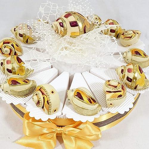 Sindy Bomboniere Bonboniere Compleanno Kommunion Konfirmation ErWeißerung Tema Mare Muscheln Marine
