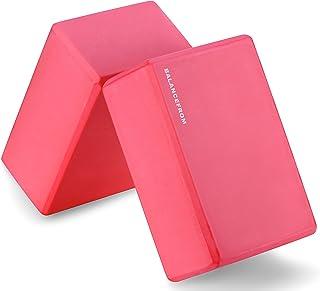 BalanceFrom GoYoga Set of 2 High Density Yoga Blocks, 9   Each [Newest Version]