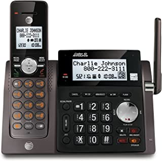 AT&T CL83143 DECT 6.0 Cordless Phone with Digital Answering System and Caller ID, Expandable up to 12 handsets, Black