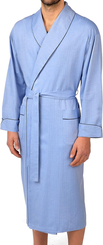 Majestic International Men's Herringbone Shawl-Collar Robe