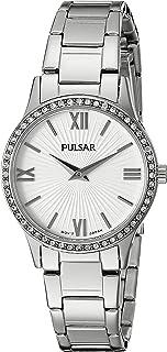 ساعة Pulsar النسائية PM2171 رسمية تناظرية العرض اليابانية كوارتز فضية