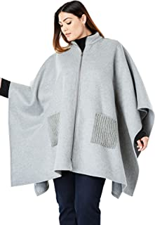 Women's Plus Size Wool Cape Coat
