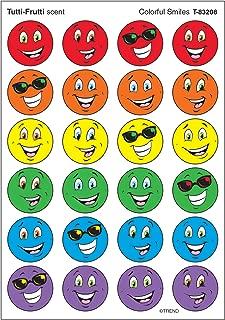 TREND enterprises, Inc. Colorful Smiles/Tutti-Frutti Stinky Stickers, 96 ct.