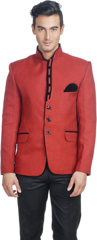 WINTAGE Men's Rayon Modified Bandhgala Party Nehru Blazer - Two Colors