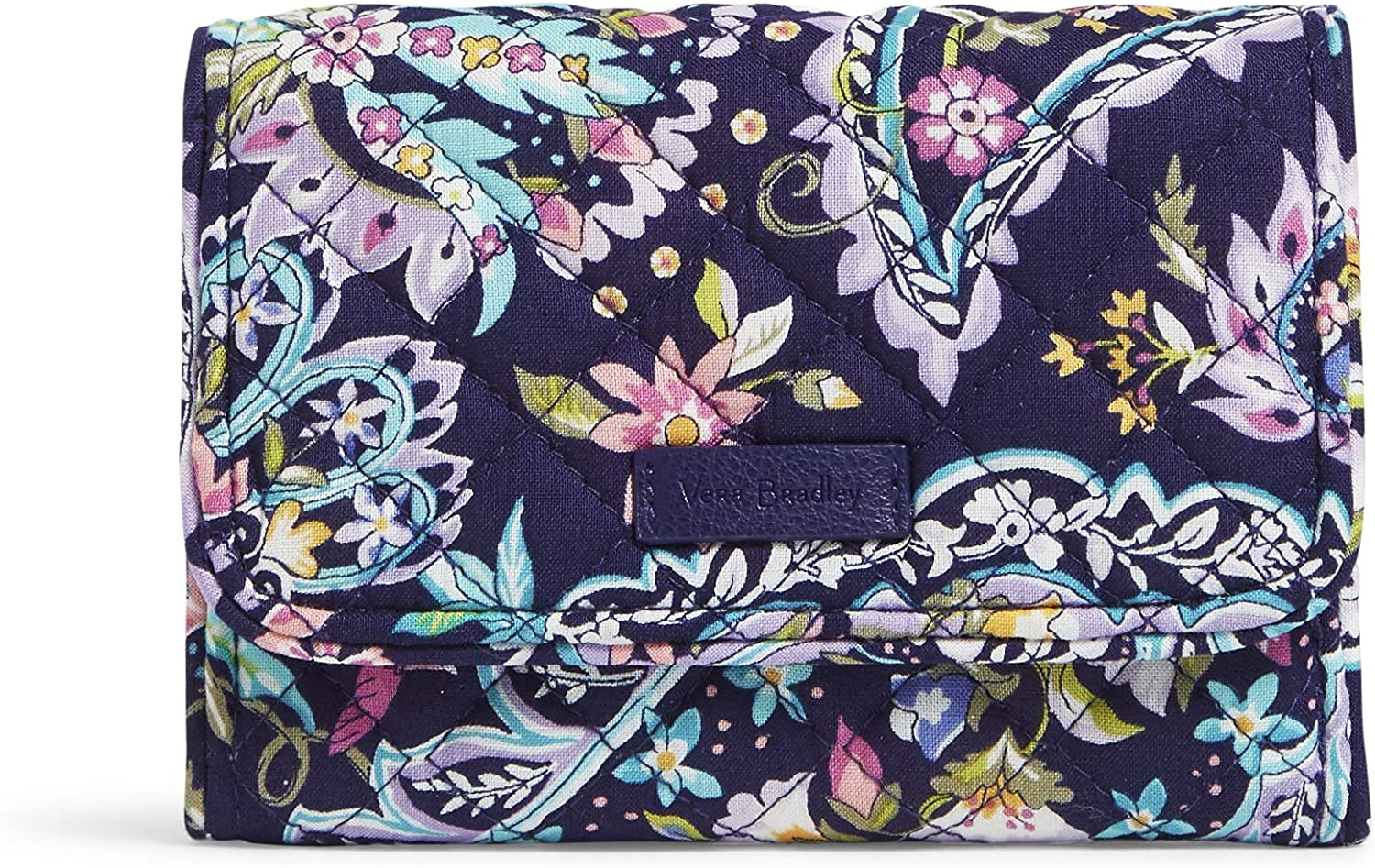 Vera Bradley Women's Cotton Riley Compact Wallet with RFID Protection, French Paisley, One Size : Clothing, Shoes & Jewelry
