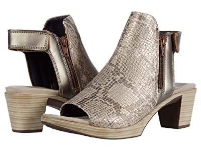 Naot Favorite (Golden Cobra Leather/Pewter Leather) Women