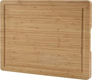 ZESPROKA Extra Large Bamboo Cutting Board (16 x 12 x 1 Inches) with Juice Grooves –Wooden Chopping Board for Meat, Vegetables, Fruit&Cheese – Non Slip & Non Stick Design- Butcher Block for Kitchen