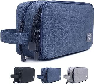 JORYEE Men's Toiletry Bag, Canvas Waterproof Travel Dopp Kit Bag Accessories Organizer (Dark Blue)