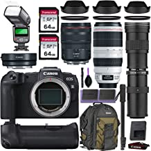 Canon EOS RP Mirrorless Digital Camera w/Canon RF 24-105mm is USM, Canon 100-400mm is II USM & Commander 420-800mm Telephoto Lens + Accessory Kit (Canon Mount Adapter w/Backpack, 2X 64gb SD & More)