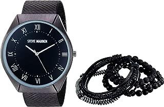 Steve Madden Men's Watch and Multi Bracelet Set SMWS060