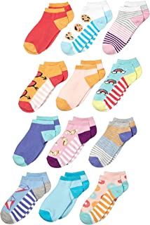 Amazon Brand - Spotted Zebra Kid's 12-Pack Low-Cut Socks