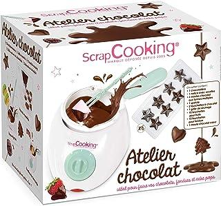 ScrapCooking - Atelier Chocolat - Appareil Fondue à Chocolat avec Accessoires - Coffret 33 Éléments pour Fabrication Choco...