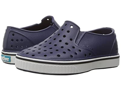 Native Kids Shoes Miles Slip-On (Toddler/Little Kid) (Regatta Blue/Shell White) Kids Shoes
