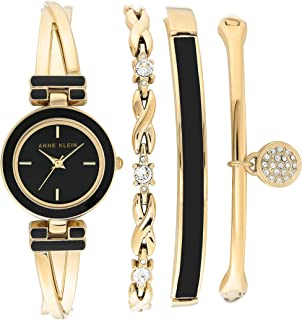 Women's Bangle Watch and Swarovski Crystal Accented Bracelet Set