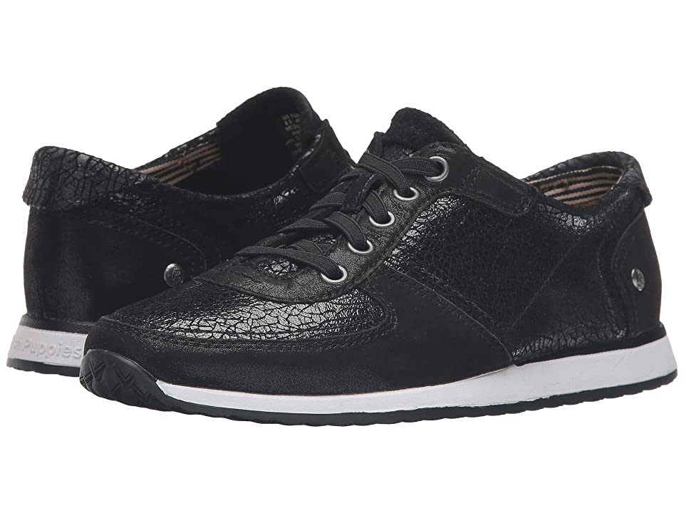 Hush Puppies Chazy Dayo (Black Crackled Leather) Women