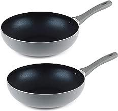 Salter COMBO-4760 20cm Copper Non-Stick Wok and Frying Pan Set 20cm//28cm