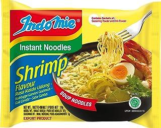 Indomie Paquete de espaguetis instantáneos de camarones de 40 x 70 gr 0.07 ml - Pack de 40