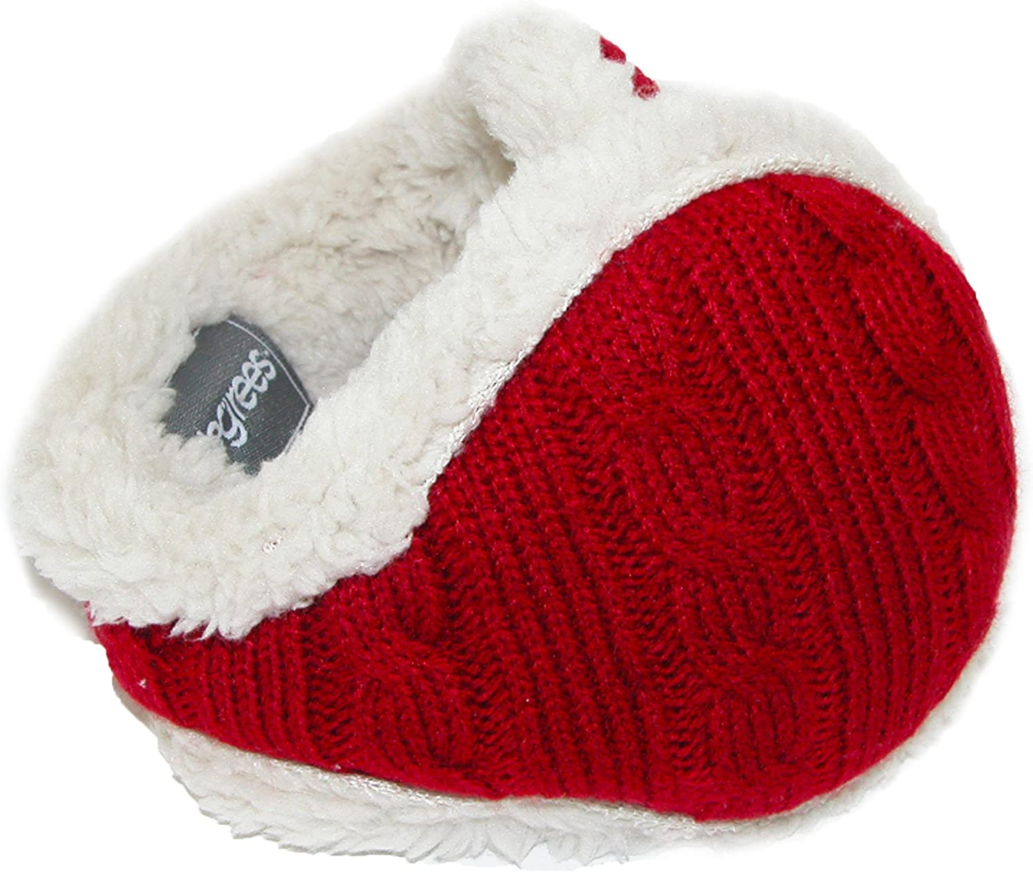 180s Women's Cable Knit Ear Warmers, Red