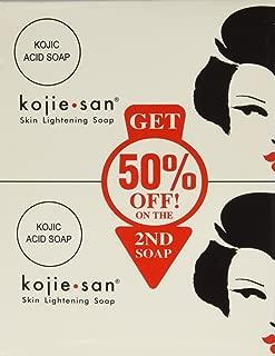 4 Bars Kojie San Kojic Acid Soap 135 grams per bar original skin bleaching soap for dark skin by BEVI