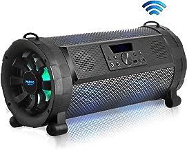 Pyle Bluetooth Boombox Street Blaster Stereo Speaker – Portable Wireless Power FM..