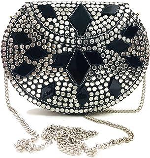 Trend Overseas Brass Beaded Ethnic purse Girls Bridal Bag Golden cross body bag for women/Girl party clutch Metal clutches...