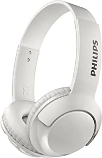 Philips BASS+ SHB3075 Wireless Headphones, up to 12 Hours of Playtime - Matte White