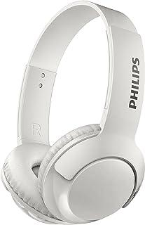 Philips SHB3075WT Bass+ - Auriculares de Diadema con micrófono (Bluetooth, batería de 12 Horas, Sonido Intenso, Graves potentes), Color Blanco