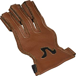 Allness Big Shot Archery Glove Three Finger for Bow Arrow Shooting with Smooth Release and Best FIT