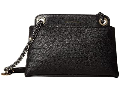 Rebecca Minkoff Mab Wave Double Zip Crossbody (Black) Handbags