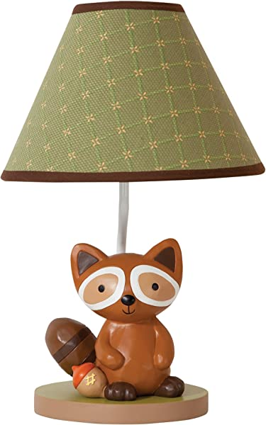 Lambs Ivy Raccoon Lamp With Shade And Bulb Echo