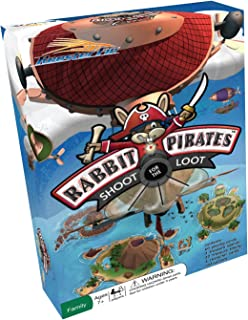 Rabbit Pirates Family Board Game - Card Game of War Played on Treasure Islands - Educational Fun for All Kids and Adults 7 and Up