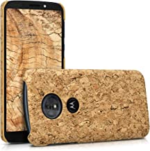 kwmobile Motorola Moto G6 Play Case - Protective Cork Cover for Motorola Moto G6 Play - Light Brown