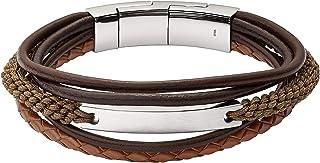 Fossil Men's Brown, Brown, Gold Bracelet, JF02703040