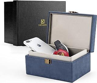 $34 » KENARK KK6M-BL Faraday Key Fob Protector Box, Signal Shielding Box, Anti-Theft Car Key Box, RFID Blocking Box (Blue)