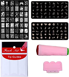 Royalkart D.I.Y. Nail Art Combo Kit With 2pcs Small Stamping Image Plate (TO-08,16)& 1pc Large Stamping Image Plates(XY13)...